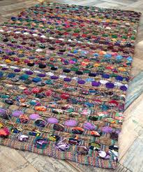 Multi Coloured Chairs by Fair Trade Thick Weave Slub Rag Rugs Multi Coloured 3 Sizes Available