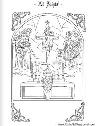 Saints Coloring Pages Catholic Playground Saints Colouring Pages