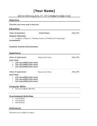 College Application Resume Templates College Application Lukex Co