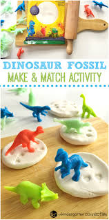 create a dinosaur fossil make and match