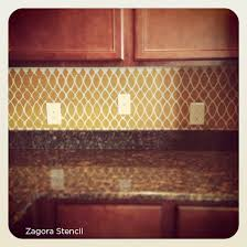 benjamin moore starts a trend with stenciled kitchen backsplashes
