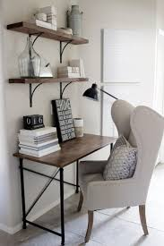 1246 best home office office organization images on pinterest home decorating ideas small home office desk in rustic industrial glam style wingback chair