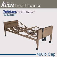 effortless tuffcare century full electric bed frame model