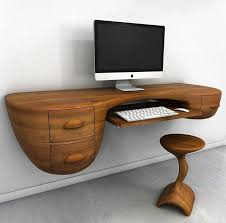 bureau bois foncé bureau bois design 50 belles propositions idées de bureau