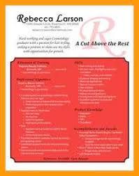 Cosmetology Resume 8 Cosmetology Resumes Reporter Resume