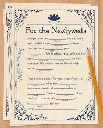 wedding adlibs wedding madlibs wedding ad libs wedding mad