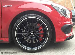 black diamond benz mercedes cla45 amg wheel refurbishment satin black diamond cut at
