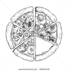 cartoon illustration pizza slice vector stock images royalty free