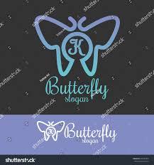 butterfly initial letter k logo design stock vector 674787964