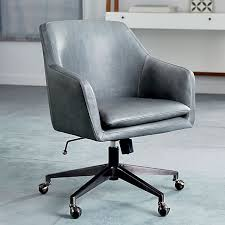West Elm Office Desk Helvetica Leather Office Chair West Elm