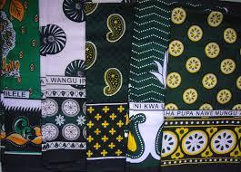 african kanga khanga sarong pareo throw wrap green black beach