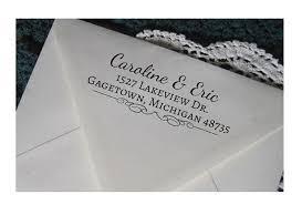 return address wedding invitations personalized return address st custom address rubber