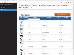 asp net core angular2 shopping cart using web api and ef 1 0 1