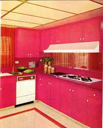 modern pink kitchen a look at 1960 u2032s interior design art nectar