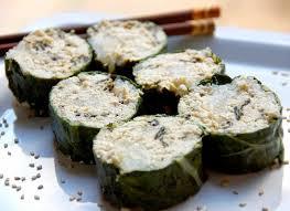 cuisiner le vert des blettes bienvenue chez spicy maki de poulet nori au vert de blette et konjac