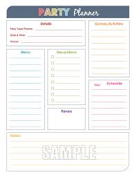 printable party planner checklist party planner and party guest list set editable organizing
