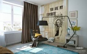 artistic bedroom design with 3d art decoration for teen roohome