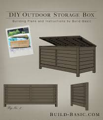 Build A Toy Box With Lid by Build A Diy Outdoor Storage Box U2039 Build Basic