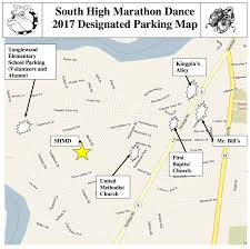 Bluebird Map South High Marathon Dance 2017 Parking And Map