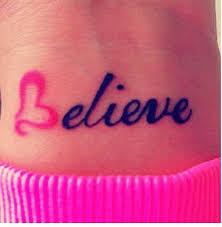 belieber tattoo on wrist