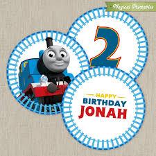 thomas train printable birthday 2 labels