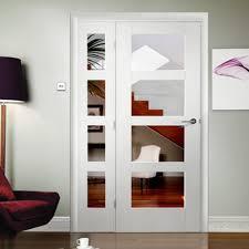 4 panel doors interior xl joinery shaker white primed clear glass internal door leader