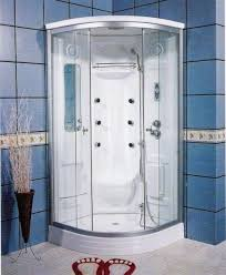 Small Shower Stalls by Round Corner Shower Stalls For Small Bathrooms With Roof And Base