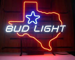 texas tech neon light bud light sign etsy