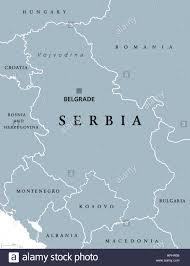 Serbia World Map by Serbia Political Map With Capital Belgrade And Neighbor Countries