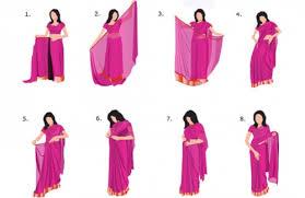 Drape A Sari A Simple Step By Step Guide For Draping A Saree How To Drape A Saree
