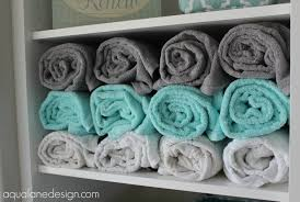Bathroom Towel Storage by A Spa Like Master Bathroom Aqua Lane Design