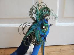 peacock feathers butterfly shoe scp2710