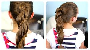 winding lace braid ponytail cheat cute girls hairstyles youtube