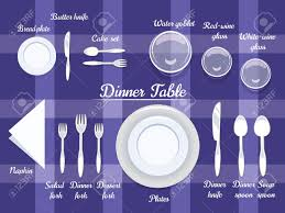 proper arrangement of cartooned cutlery on dining table with