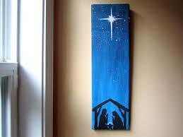 hand painted nativity scene christmas decor nativity