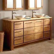 Teak Bathroom Cabinet Vessel Sink Bathroom Vanities Vanity Cabinets L Teak 1