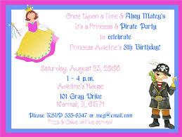 pirate u0026 princess birthday party invitations