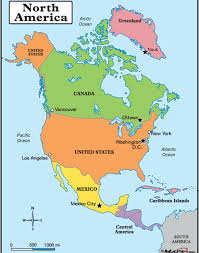 map usa central america map usa and central america major tourist attractions maps