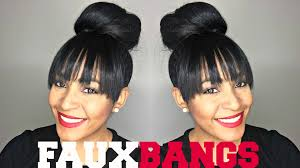 faux bangs fake bangs using extension youtube