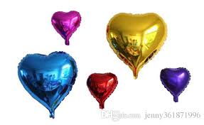 helium filled balloons delivered 18 inches helium balloons heart shaped balloons color air