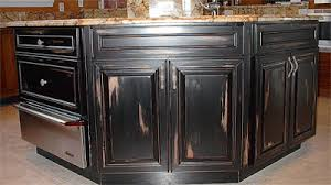 How To Paint Cabinets To Look Distressed Age And Distress Faux Painting Of Kitchen Cabinets Everything I