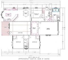 Mobile Home Floor Plan 4 Bedroom Floor Plan F 3017 Hawks Homes Manufactured