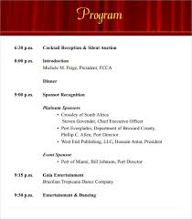 reception program template sle event program template 38 free documents in pdf