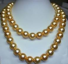 gold pearls necklace images 36 inch 10 11mm genuine south sea golden pearl necklace in jpg