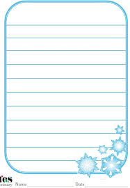 themed paper best photos of snowflake themed writing paper primary free