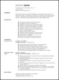 Entry Level Resumes Templates Free Entry Level Corporate Trainer Resume Template Resumenow