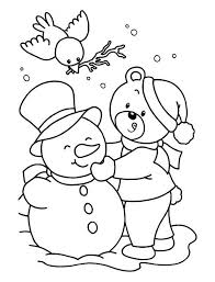 cute snowman print coloring pages kids free printable coloring