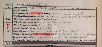 weekly lesson planner template pyp day plan template making good humans pyp day plan template example