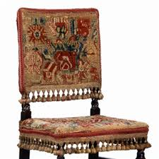 Upholstery Restoration Beech Chair With Turkey Work Upholstery English C 1685