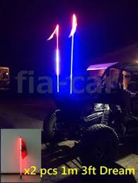 led light whip for atv pair 1 5m 5fts rgb led light whip sxs atv utv 4 wheeler rzr quick